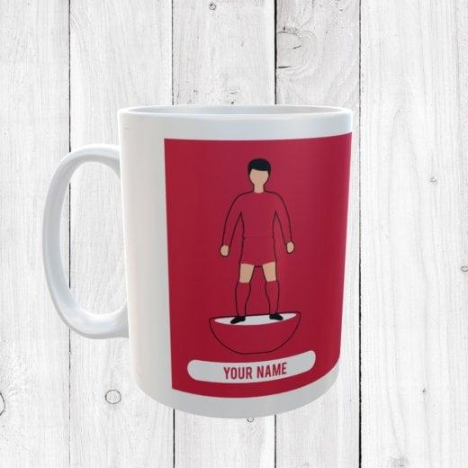 Red Football Mug