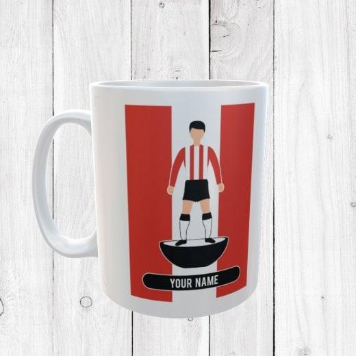 Red, White & Black Football Mug
