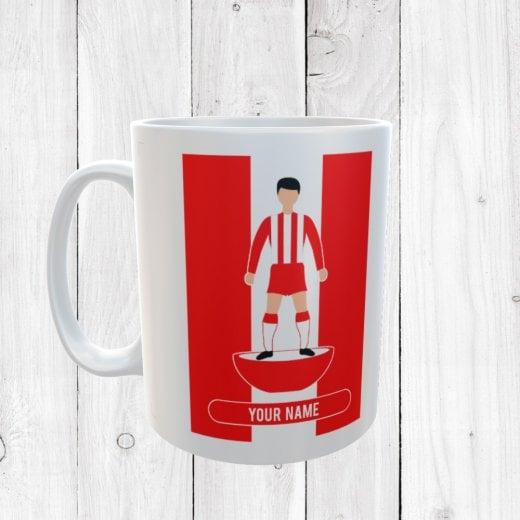 Red & White Football Mug