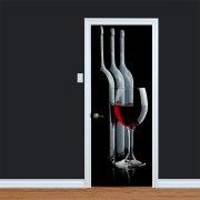Red Wine Printed Door