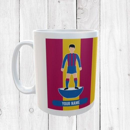 Red, Yellow & Blue Football Mug