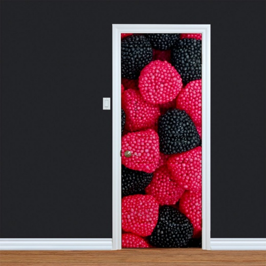 Red's & Black's Sweeties Printed Door