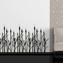 Reed Flower Bed Wall Sticker