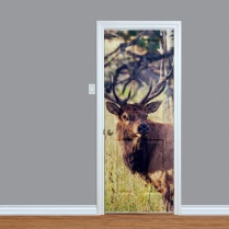 Reindeer In Woodland Printed Door
