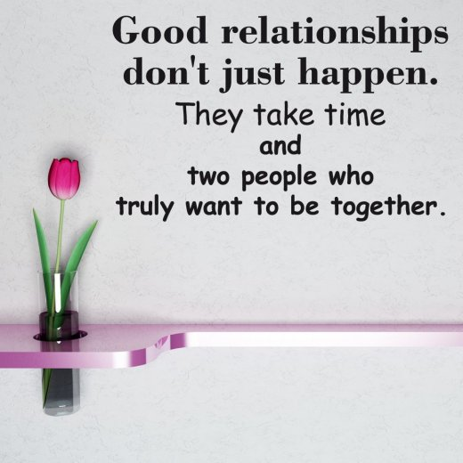 Relationship Wall Sticker Quote
