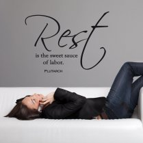 Rest Is The Sweet Sauce Wall Sticker Quote