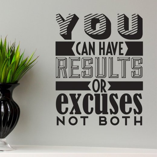 Results Wall Sticker Quote