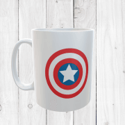 Retro Captain America Shield Mug