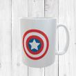 Retro Captain America Shield Mug