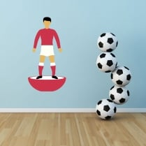 Retro Footballer Wallsticker