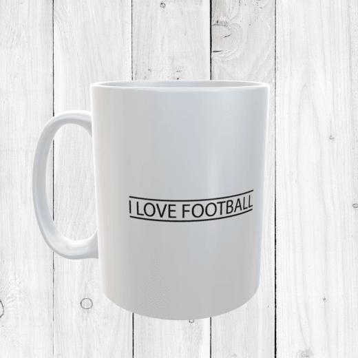 Retro I Love Football Mug