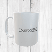 Retro I Love Football Mug