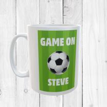 Retro Personalised Game On Football Mug