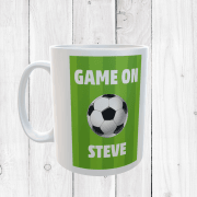Retro Personalised Game On Football Mug