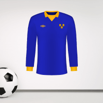 Retro Shrewsbury Blue & Amber Football Shirt Wall Sticker