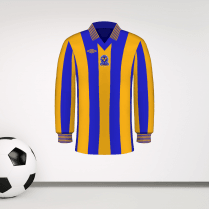 Retro Shrewsbury Blue & Amber Football Shirt Wall Sticker
