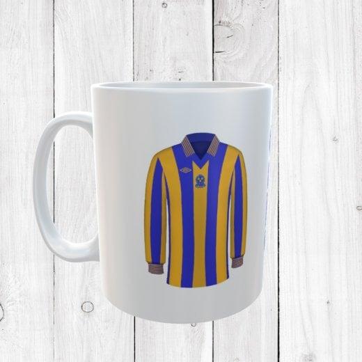 Retro Shrewsbury Town 80/81 Football Shirt Mug