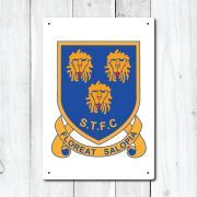 Retro Shrewsbury Town Football Metal Sign