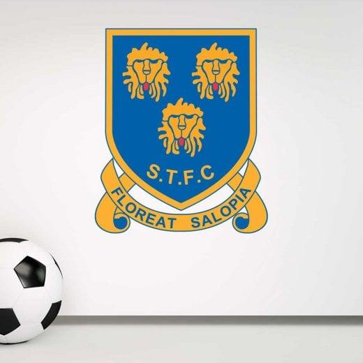 Retro Shrewsbury Town Football Wall Sticker -Floreat Salopia