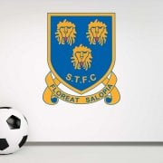 Retro Shrewsbury Town Football Wall Sticker -Floreat Salopia