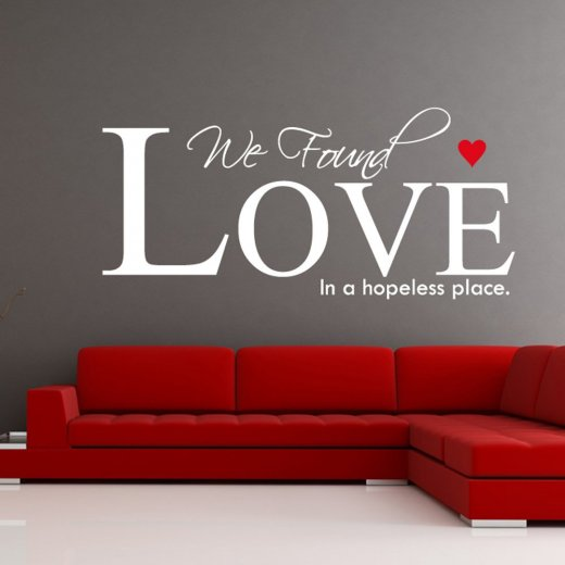Rihanna Love Wall Sticker Quote