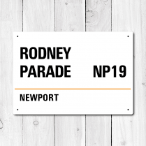 Rodney Parade, Newport Metal Sign