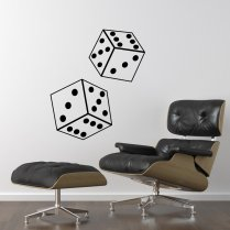 Rolling Dice Wall Sticker