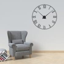 Roman Numerals Wall Sticker Clock