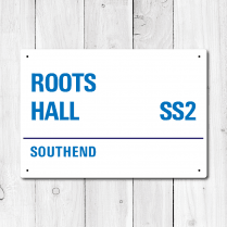 Roots Hall, Southend Metal Sign