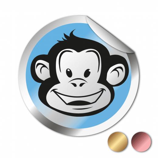 Round Stickers - Chrome