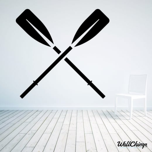 Rowing Oars Wall Sticker