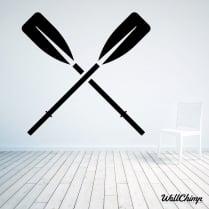 Rowing Oars Wall Sticker