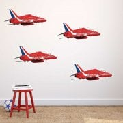 Royal Air Force Red Arrows Wall Sticker Pack