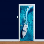 Sailing Yacht At Sea Printed Door