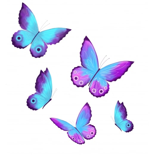 Sarah Peachey Custom Butterfly Wall Sticker Order x5 WC535QT