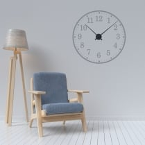 School Style Wall Sticker Clock