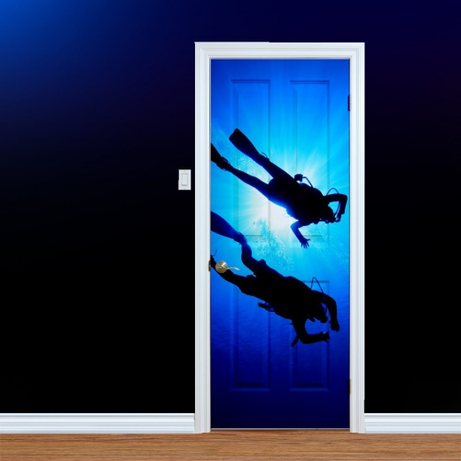 Scuba Diving UV Printed Door