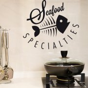 Seafood Specialities Wall Sticker Quote