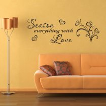 Season With Love Wall Sticker Quote
