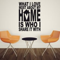 Share Home Wall Sticker Quote