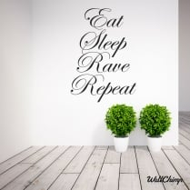 Shona Hurpaul Eat Sleep Rave Repeat Wall Sticker WC516QT