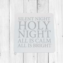 Silent Night Christmas Coaster