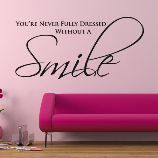 smile wall sticker quote wall chimp uk home family friends text quotes wall stickers adhesive