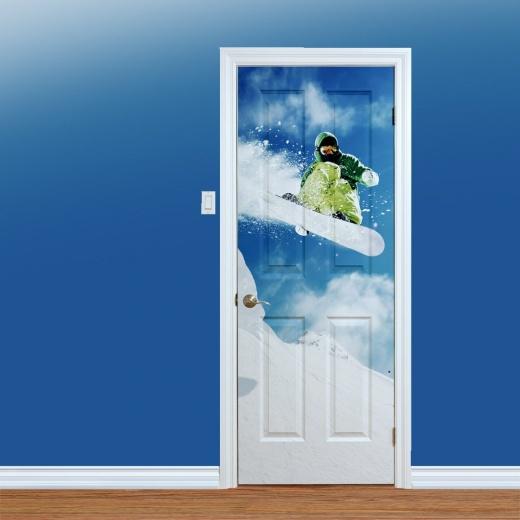 Snowboard Jump Printed Door Art