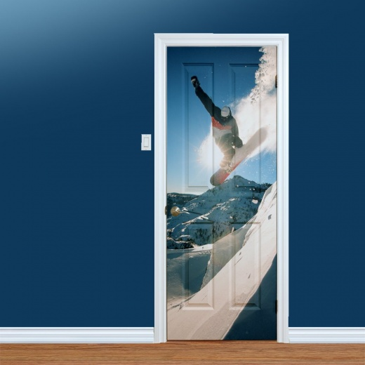 Snowboarding Jump UV Printed Door