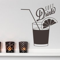 Soft Drinks Wall Sticker Quote