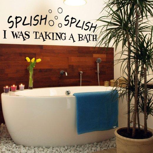 Splish Splish Taking A Bath Wall Sticker Quote