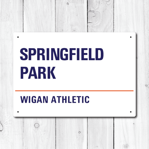 Springfield Park, Wigan Athletic Metal Sign