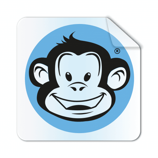 Square Rounded Corner Stickers - Clear