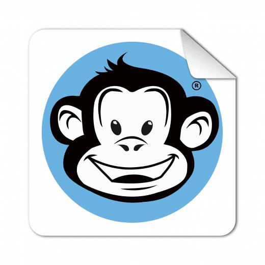 Square Rounded Corner Stickers - Matt